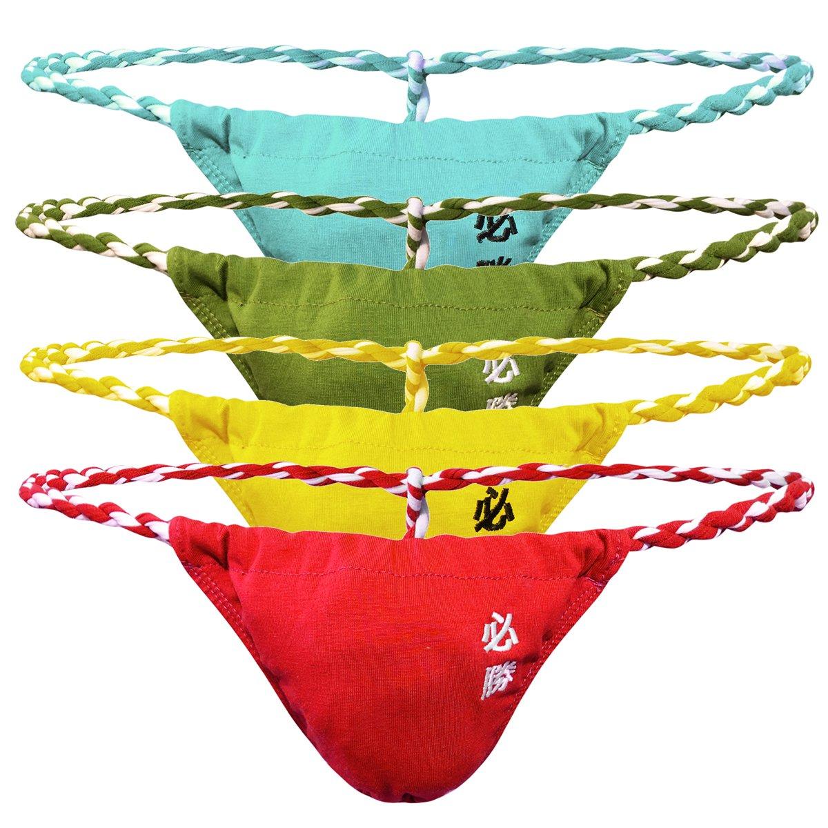 Sexy Men G-String Thongs T-Back Underwear Bikini Wrestling Sumo Briefs Tangas