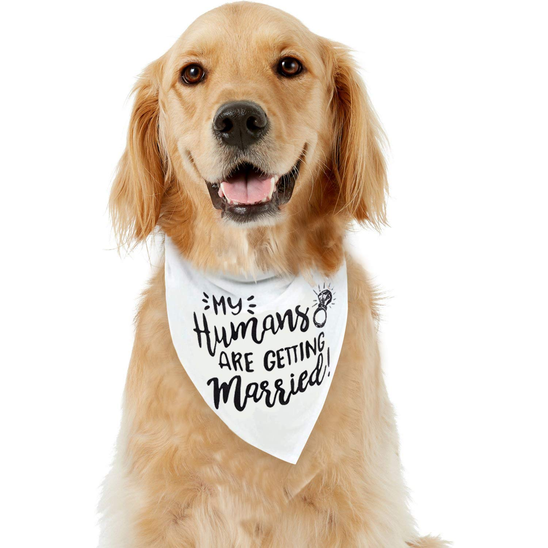 Amazon.com: Bandana para perro My Humans are Getting Married ...