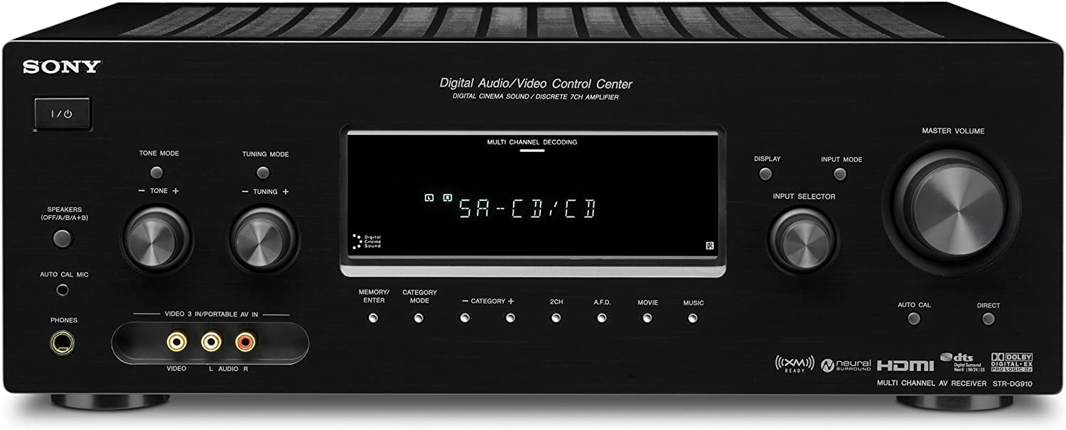 Sony STR-DG910 7.1 Channel Home Theater Receiver (Discontinued by Manufacturer)
