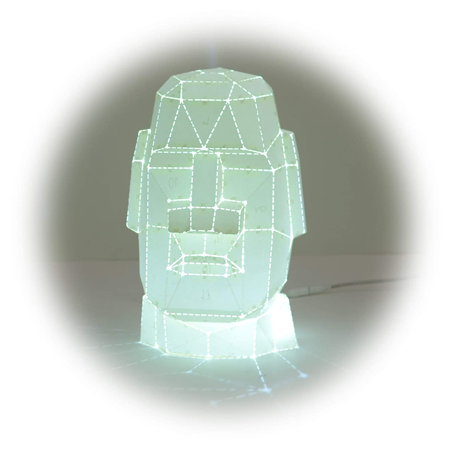 Details about  /Holy 3D Easter Moai Ahu 7 colors led table night lights bedroom usb lamp gift J