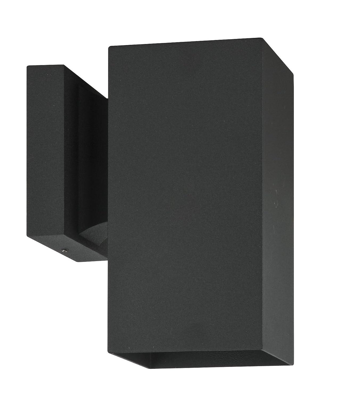 Lámpara incandescente cuadrada, color Negro