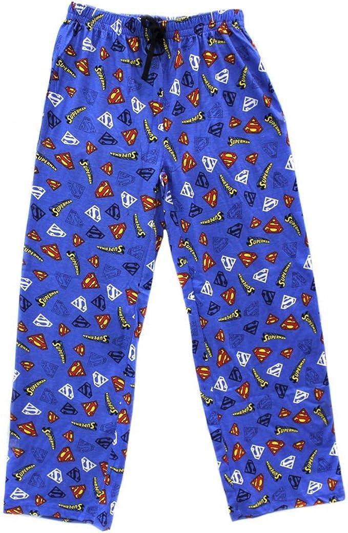 Mens DC Comics Superman Character Cotton Pyjama Bottoms Lounge Wear Pants