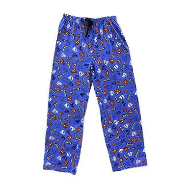 Mens DC Comics Superman Character Cotton Pyjama Bottoms Lounge Wear Pants  (Blue) S 510b3193e