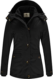 IMAGE Aimage Womens Warm Quilted Winter Parkas Hooded Long Coats Outwear Jackets with Drawstrings