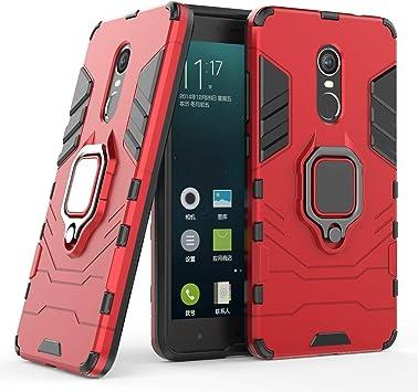 COOVY® Funda para Xiaomi Redmi Note 4X de plástico y Silicona TPU, extrafuerte, Anti Choque, Funda con función Atril + Soporte magnético | Color Rojo: Amazon.es: Electrónica