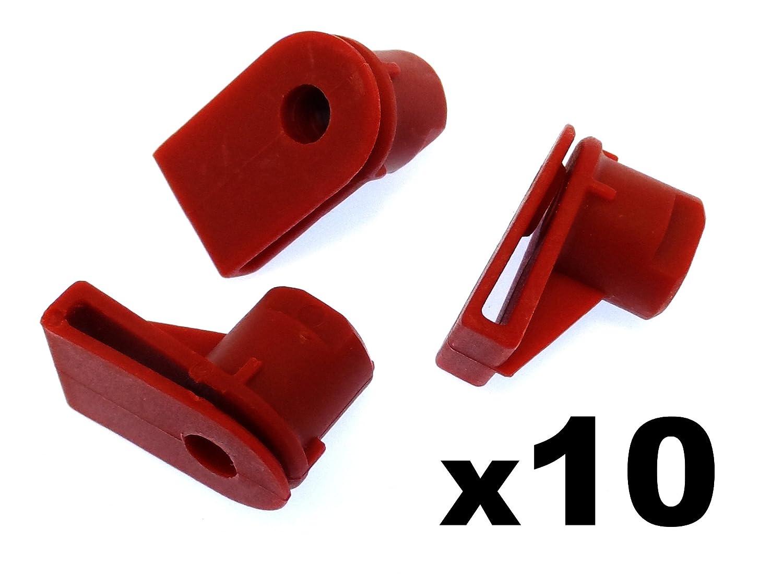 10x plastica tagliare clip / Elementi di collegamento - plastica Gommino Dado Viti Paraurti Wing, faro griglia ecc (07147212877) - Veicoli / Auto / Moto Vehicle Clips