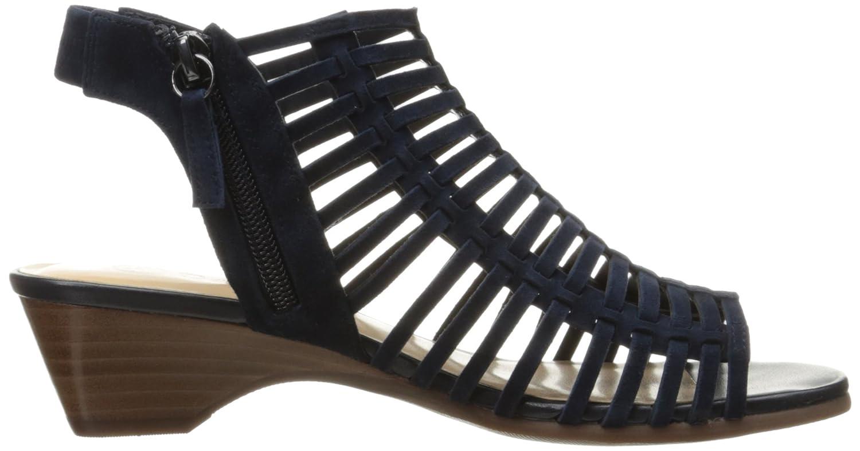 Bella Vita Women's Pacey Wedge Sandal B01MQZ1Z1G 7.5 N US|Navy Kid Suede