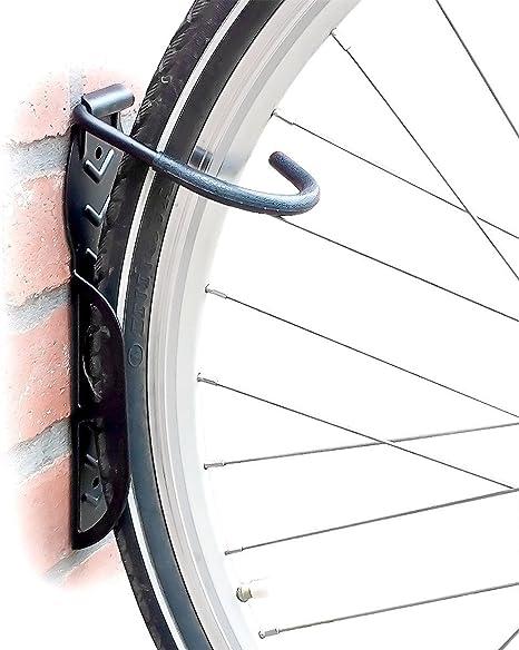 Set de 2 soportes de pared para bicicleta - Soporta hasta 25 kg cada uno: Amazon.es: Deportes y aire libre