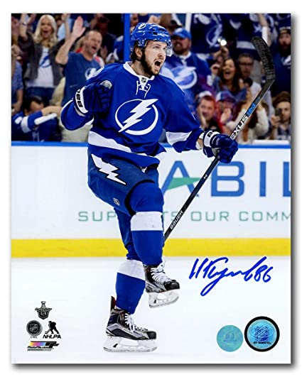 Nikita Kucherov Tampa Bay Lightning Autographed Goal Celebration 8x10 Photo fa8823407