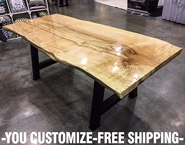 amazon com wood table wood table top wood slab coffee table wood rh amazon com live edge slab table part 1 live edge slab table diy