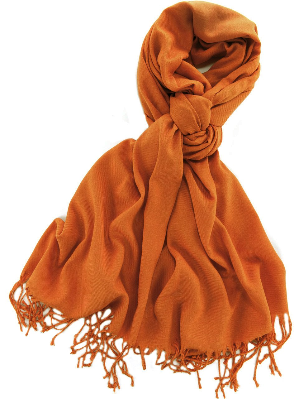 La Purse Pashmina Shawl Scarf - Warm & Extremely Soft - Size 79'' L X 29'' - Pumpkin