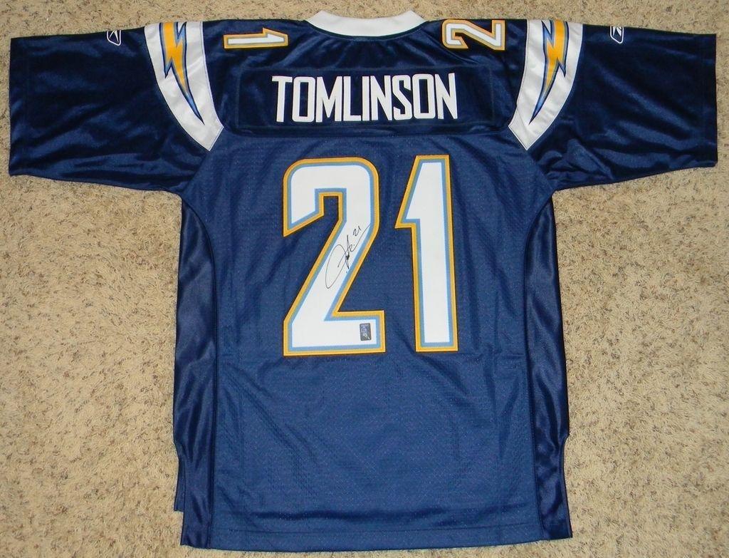Amazon.com  Autographed LaDainian Tomlinson Jersey - Reebok Premier  21  Navy - Autographed NFL Jerseys  Sports Collectibles a722101c0