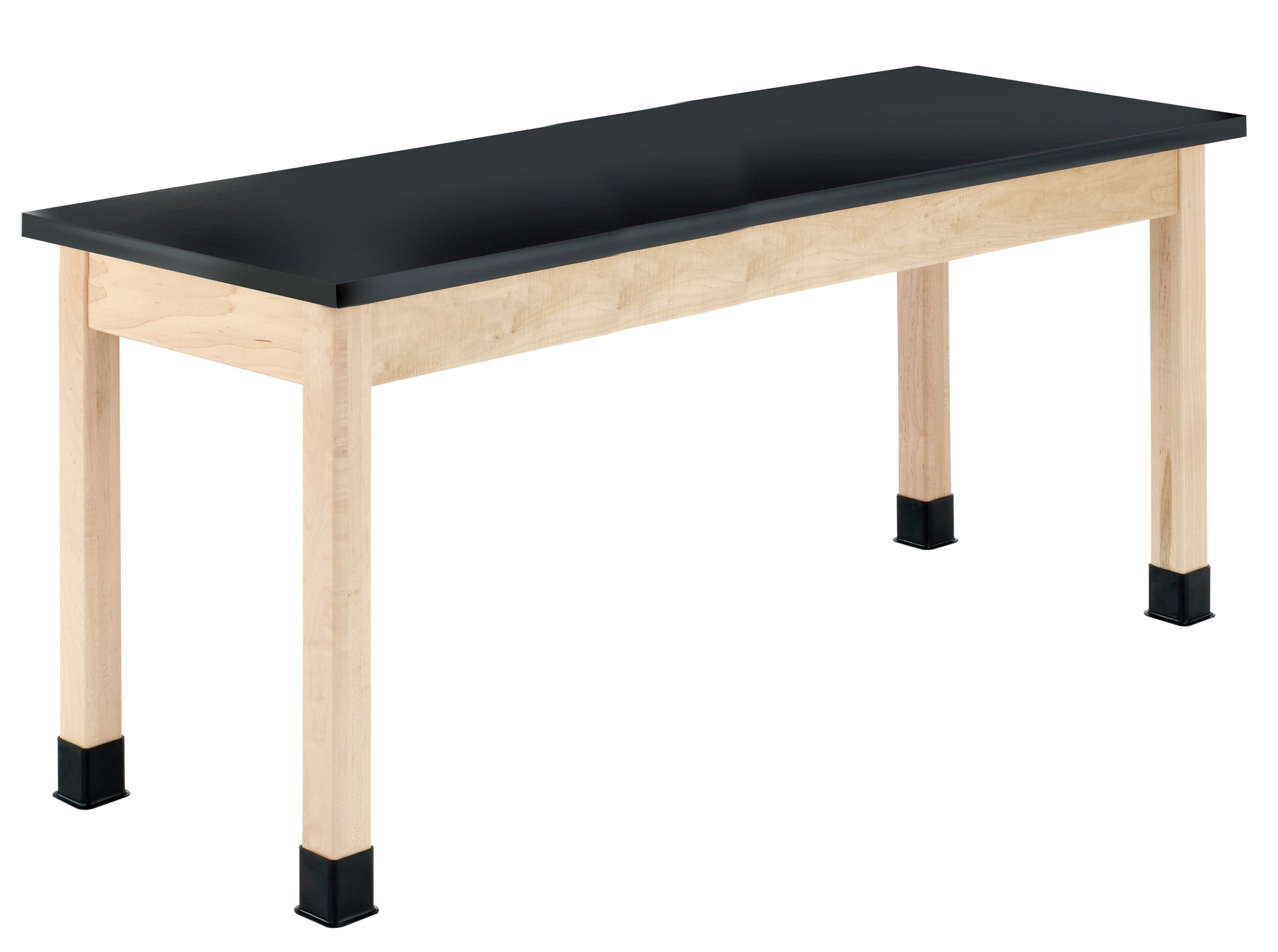 Diversified Woodcrafts P7606M30N - 24''x60'' - 30'' High, Plain Apron Laboratory Table, Maple Legs & Apron, Epoxy Resin Top, Made in USA