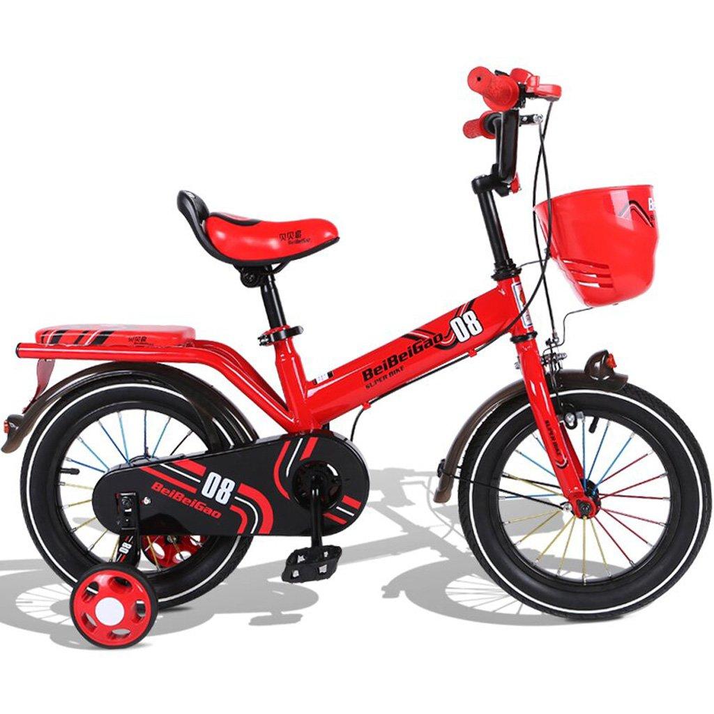 子供の自転車16インチの赤ちゃんキャリッジ4-8歳の子供の自転車赤 B07DP3WM9N