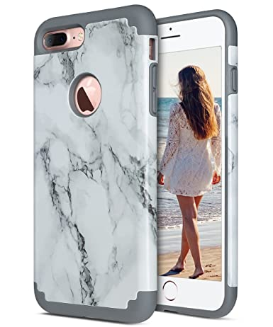 IPhone 7 Plus Case Marble ULAK Slim Heavy Duty Cases