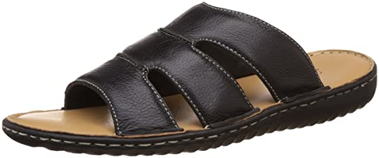 Louis Philippe Men's Leather Sandals and Floaters Sandals & Floaters at amazon