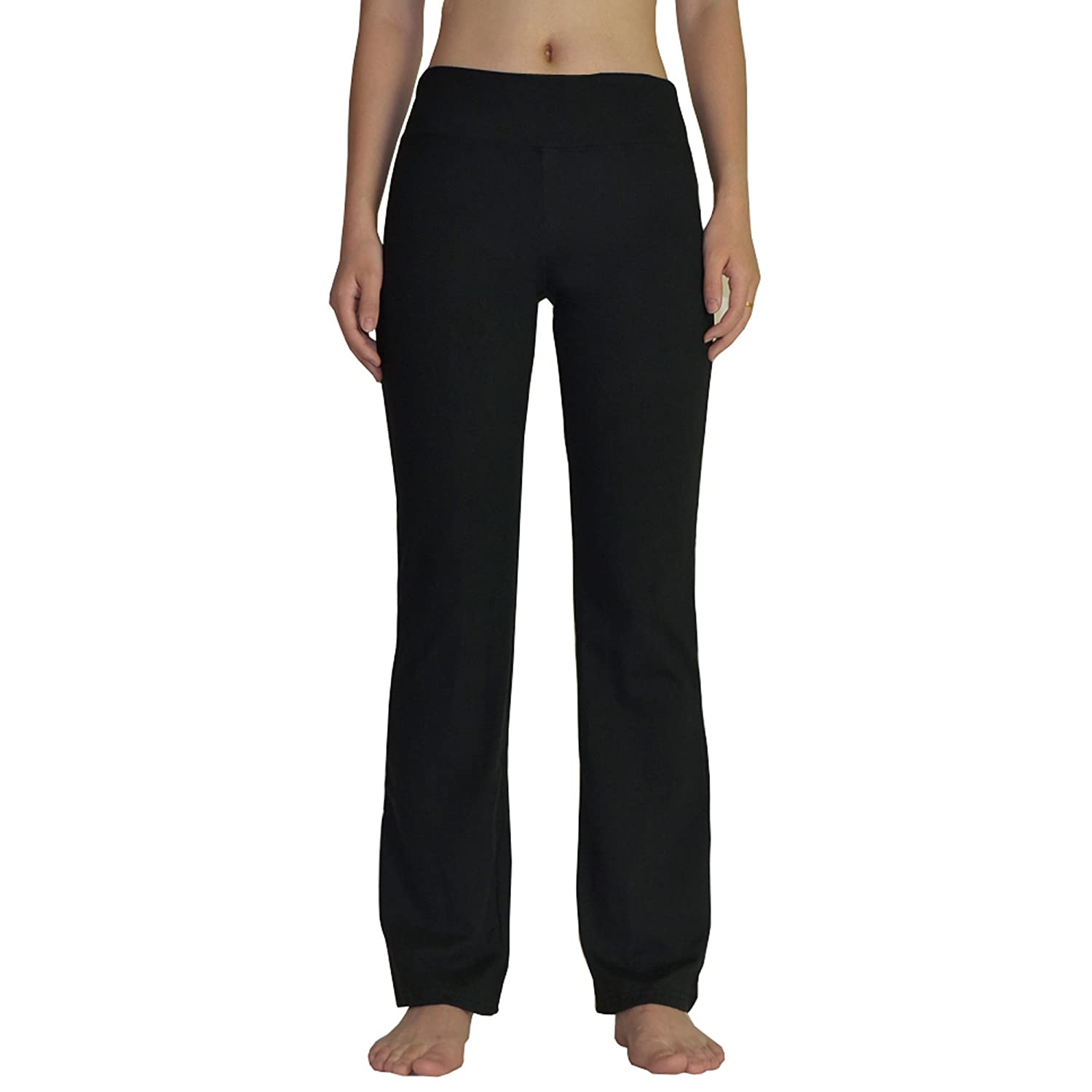 f262c6cf6462e Bootleg yoga pants create a leg-lengthening silhouette that looks great in  any gym mirror. Ideal for yoga, running errands and with right top/shoes  can ...
