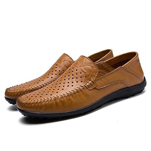Esthesis Hombre Zapatos de Verano Mocasines de Cuero Genuino Mocasines Slip on Driving Zapatos: Amazon.es: Zapatos y complementos