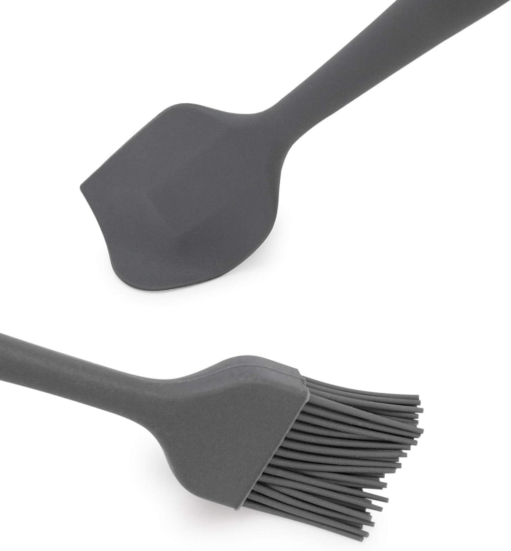 BackeFix spatule en silicone et une brosse en arrosant avec un noyau solide en acier et t/ête flexible extra longue 28cm et 22cm