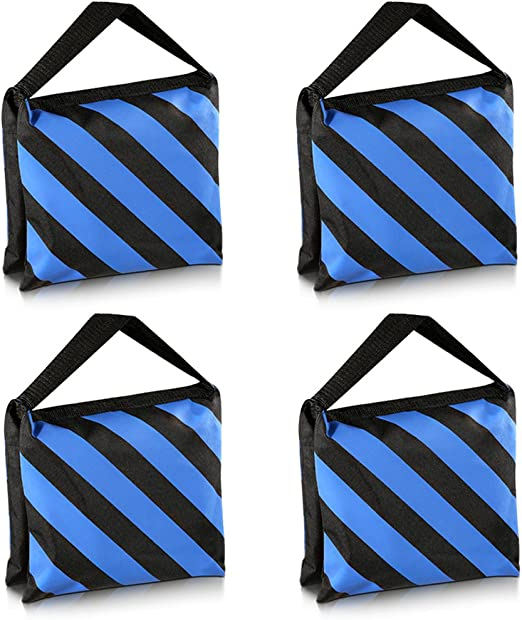 Photography Upgraded Heavy Duty Sandbag Emart 4 Pack Photo Video Studio Stage Film Sand Bags for Backgrounds Light Stands Boom Arms Tripods