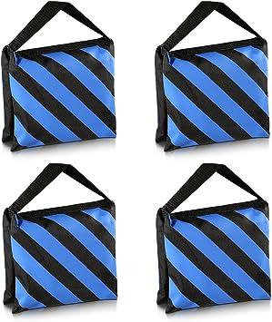 Neewer Kit de 2 Negro//Azul Bolsa de Arena para Tareas Duras de Estudio Fotogr/áfico Plataforma Cine para Brazo Jirafa Tr/ípode Soporte de Luz