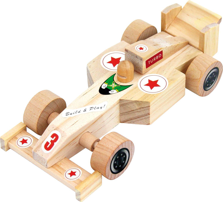 Eduplay 800188/18/x 7/x 4/cm Unique kit voiture de course en bois