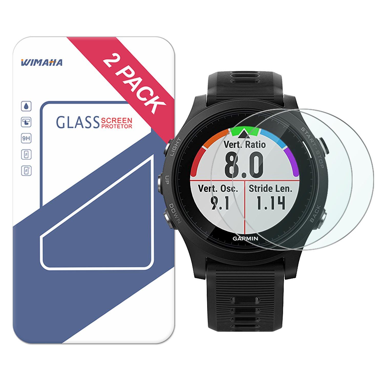 Garmin Forerunner 945 Screen Protector AVIDET 9H Hardness 0.3mm Ultra Slim Premium Tempered Glass Screen Protector for Samsung Garmin Forerunner 945 2-Pack