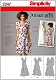 Simplicity Amazing Fit Pattern 2247 Women's Dress with Individual Pattern Pieces Sizes 20W-28W
