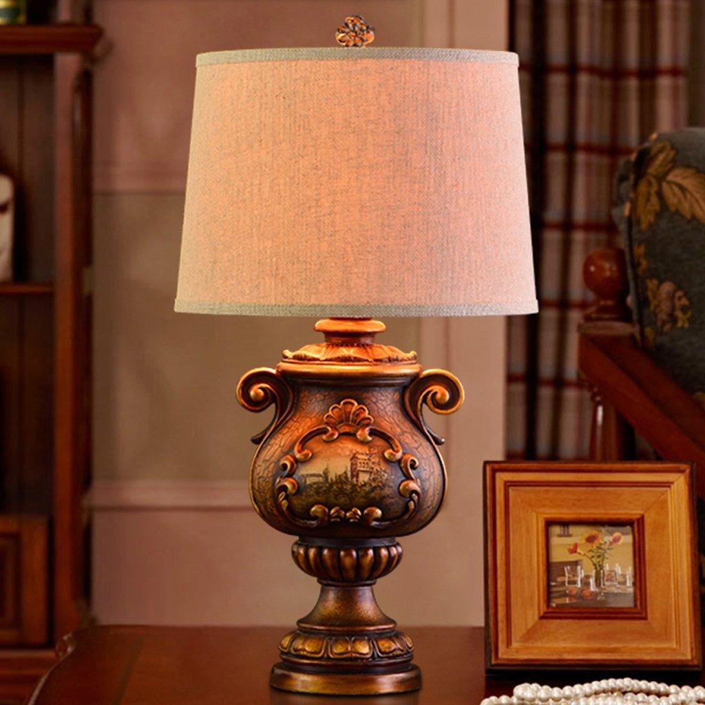 Tischlampe American Continental Wohnzimmer Villa Schlafzimmer Nachttischlampe