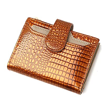 Billetera de mujer Monedero grande plegable del embrague de la cartera de las mujeres Monedero pequeño