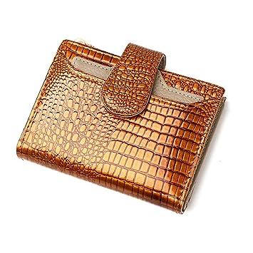 Billetera de mujer Monedero grande plegable del embrague de la cartera de las mujeres Monedero pequeño ...