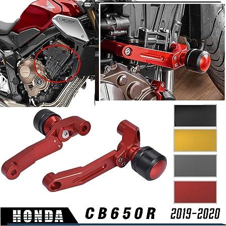 Lorababer Moto Noir POM Cadre Curseur Anti Crash Cap Pad Protecteur Moteur Garde Collision Antichute pour B.M.W F900R F900XR F750GS ADV F850GS ADV 2019 /& up