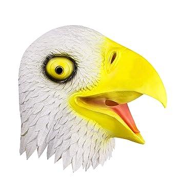 Máscara de cabeza de águila calva, accesorios de Halloween símbolo espiritual Máscara de águila,