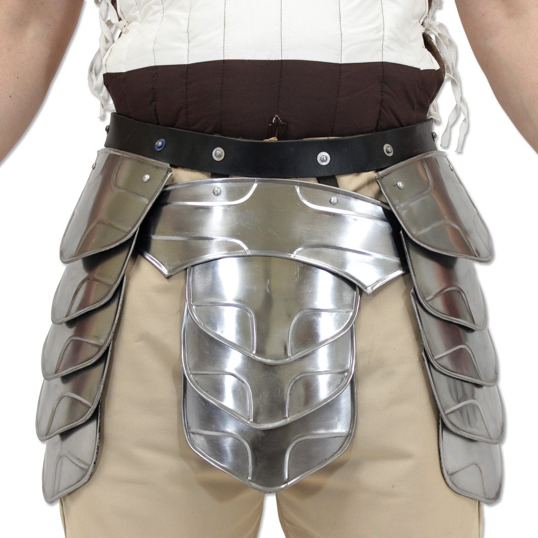 ''Hung'' Middle Age Knights Tasset Battle Armor Plated Steel Waist Fauld Belt