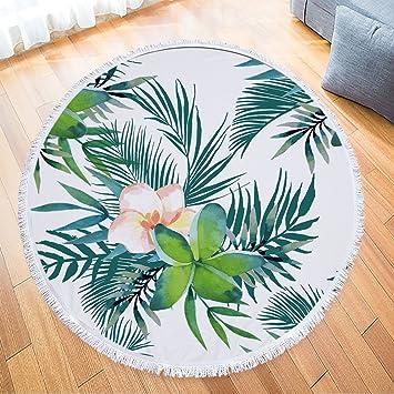 DAMENGXIANG Toalla De Playa Flores Circulares Mantón Engrosada Toalla Alfombra Esterilla De Yoga Picnic Mat Toalla De Protección Solar. E: Amazon.es: Hogar