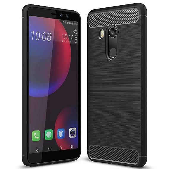 best service 472c1 7494d Amazon.com: HTC U11 Eyes Case, Landee Carbon Fiber Design Shock ...