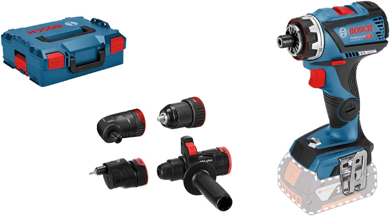 Bosch Professional 18V System GSR 18V-60 FC - Atornillador a batería (60 Nm, FlexiClick, 4 adapt...