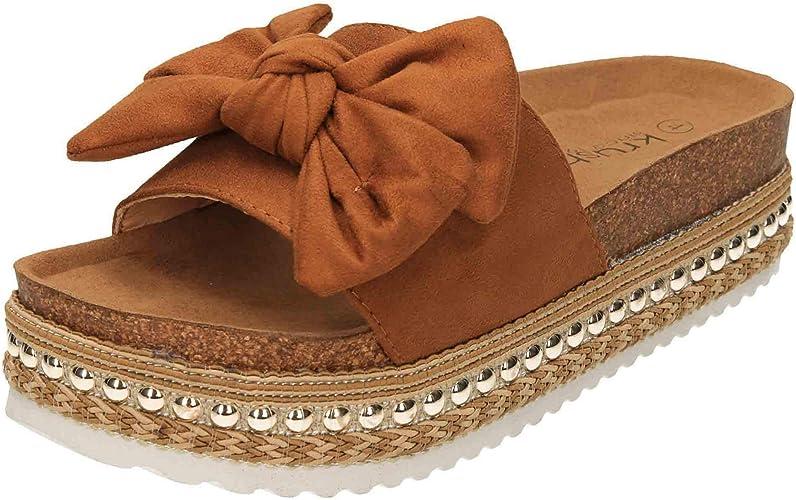 Krush Flatform Sandals Sliders Mules