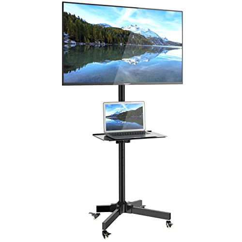 """1home Mobile TV Cart Floor Stand Mount Home Display Trolley for 23""""-55"""" Plasma/LCD/LED"""