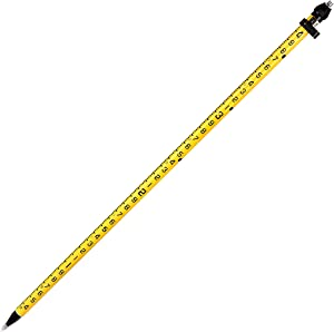 AdirPro 2M Aluminum 3-Position Snap-Lock Rover Rod – Well Made Bright Colored with Carry Strap for Professional & Personal Use (Yellow)