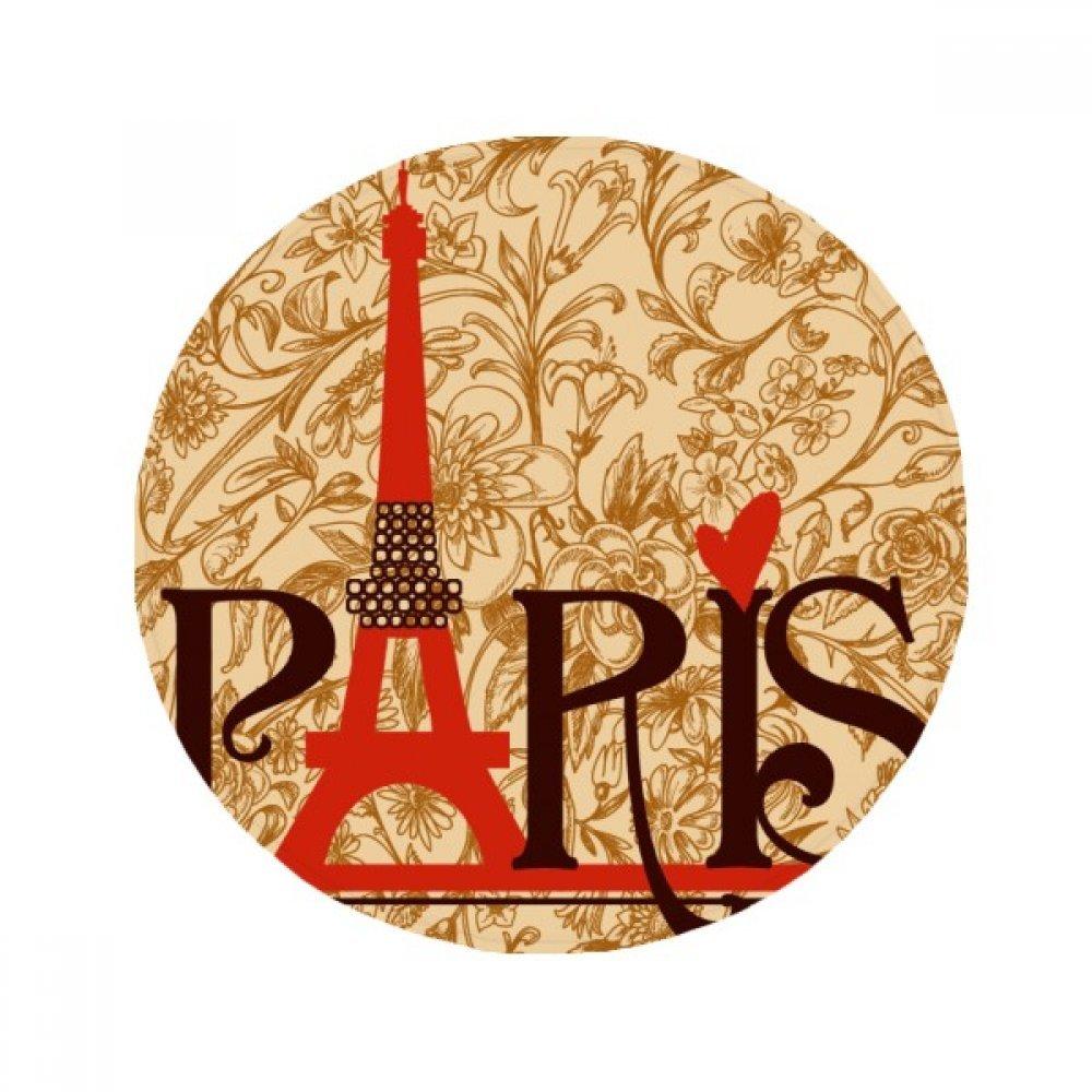 60X60cm DIYthinker Eiffel Tower Paris France Country City Culture Anti-Slip Floor Pet Mat Round Bathroom Living Room Kitchen Door 60 50Cm Gift