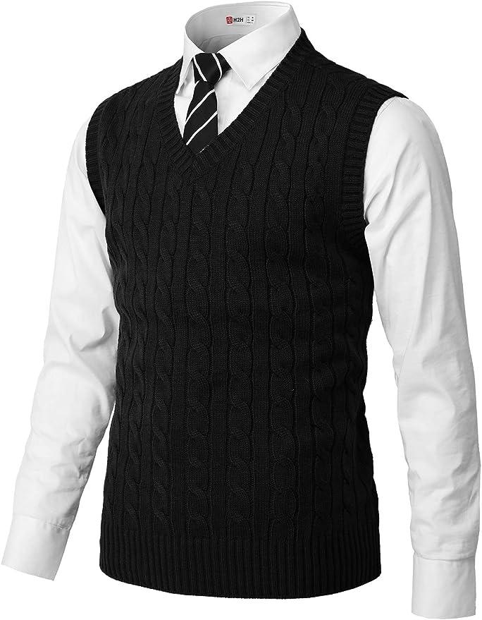 H2H Men's Slim-Fit Sweater Vest