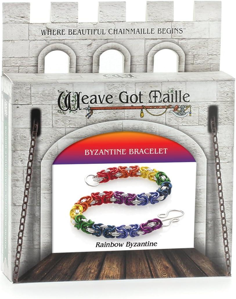 Weave Got Maille Rainbow Byzantine Chain Maille Bracelet Kit