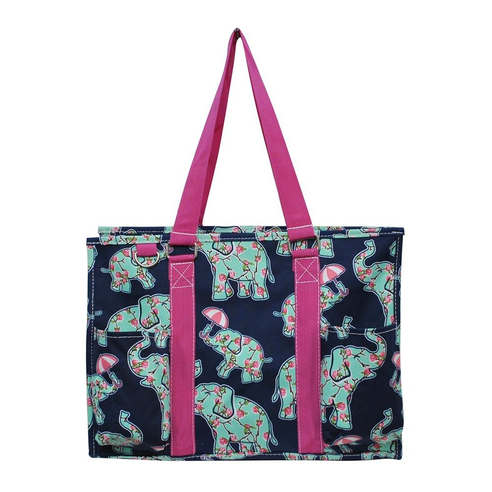 N Gil All Purpose Organizer Medium Utility Tote Bag 3 (EPN Umbrella Elephant Hot Pink)