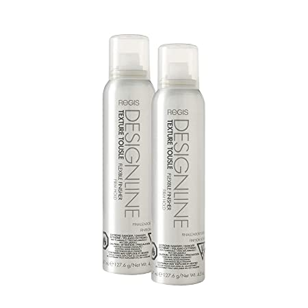 Texture Tousle Flexible Finisher – Regis DESIGNLINE – Heat Styling Protectant, Hair Spray that Helps Hold Hair in Place and Create a Full and Tousled Look 2 Pack