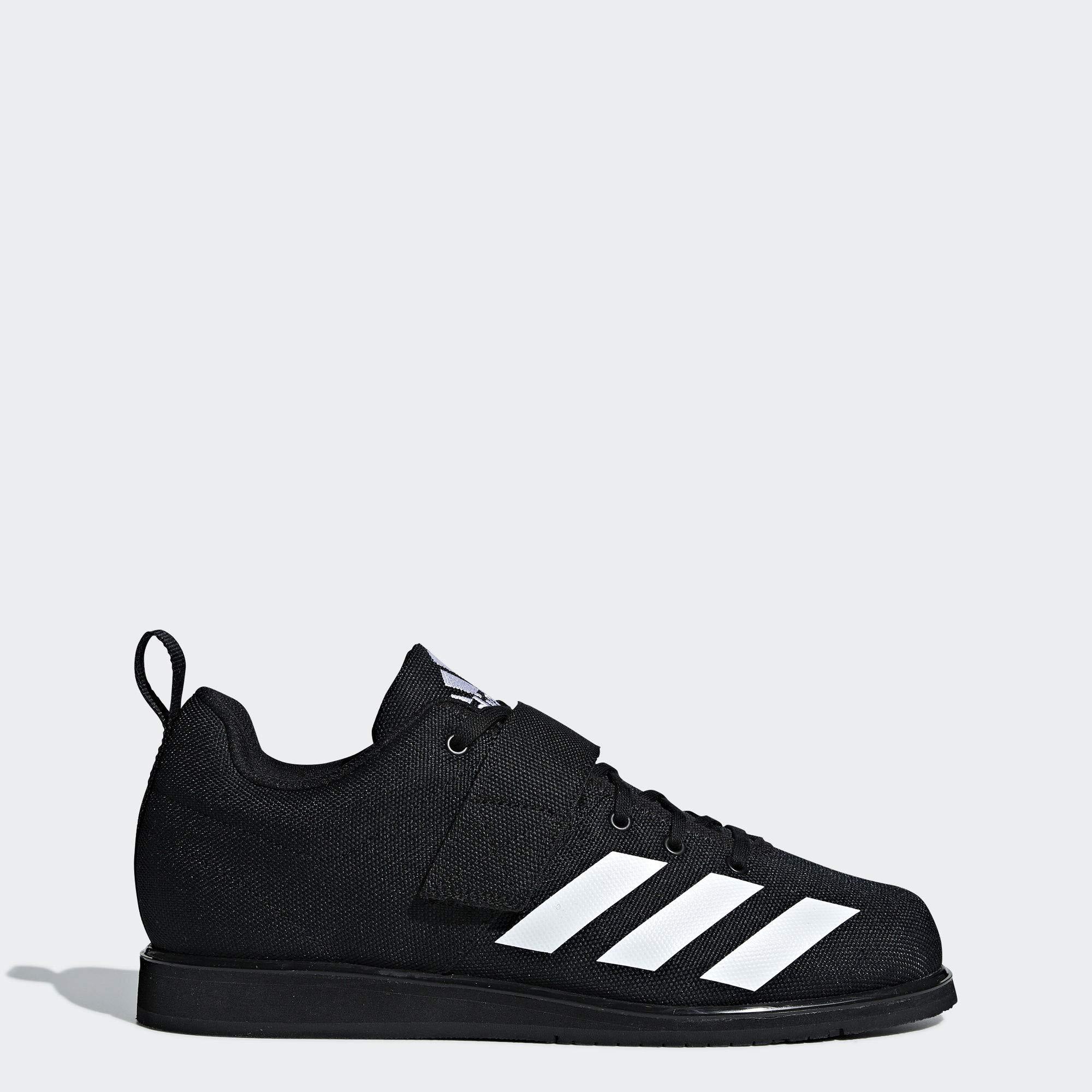 adidas Men's Powerlift 4 Weightlifting Shoe, White/Black, 10.5 M US by adidas