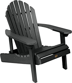 product image for Highwood AD-CHL1-BKE Hamilton Folding and Reclining Adirondack Chair, Adult Size, Black
