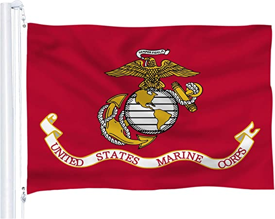ANLEY US Marine Corps Flag United States Military Banner Polyester 3x5 Foot Flag