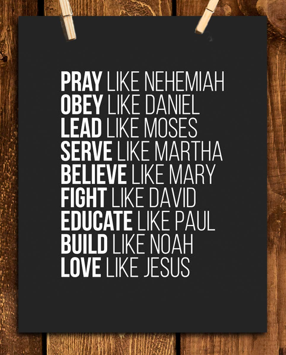 Spiritual Super Role Models- Bible Wall Art- 8×10″-Christian Poster Print-Ready to Frame. Home-Office-Church Décor. Christian Gifts-Decorations. Inspiring & Encouraging Mentors- Setting the Bar High!