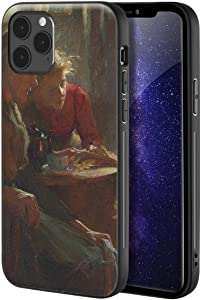 Frank Bramley for iPhone 12 Pro Max Case/Art Cellphone Case/Giclee UV Reproduction Print on Mobile Phone Cover(Fireside Tales)